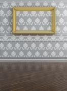 White canvas on wall Stock Illustration