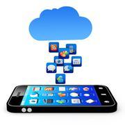 cloud application - stock illustration