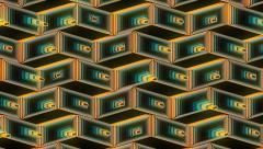 Stock Video Footage of Neon Pattern 001 B Beat Wave TC 1920x1080
