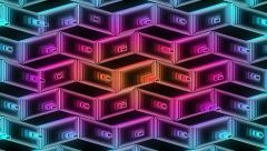 Neon Pattern 001 B Beat Wave GSC 3840x2160 Stock Footage