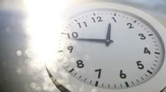 Clock ticking over sea animation Stock Footage