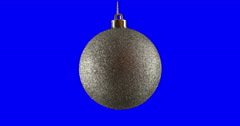 Christmas ball isolated loop 03 Stock Footage