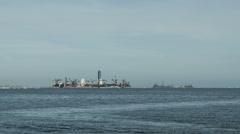 Astronaut Island Long Beach Time Lapse - stock footage