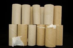 Empty toilet paper roll Stock Photos