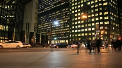 Toronto Financial District in Rush Hour - stock footage