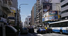 Street Corrientes in Buenos Aires Stock Footage