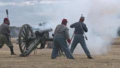 Cannon Fire Stock Footage