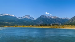 Twin lakes on a sunny day Stock Footage