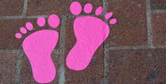 footprint - stock photo