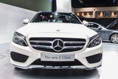 the mercedes benz new c-class c300 showed in 31th thailand international moto - stock photo