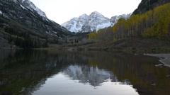 maroon bells sunrise aspen colorado - stock footage