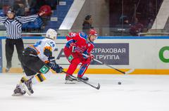 Logan payet (39) vs gharkov pavel (25) Stock Photos