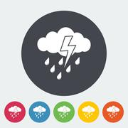 Storm icon - stock illustration