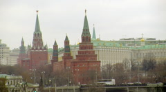 Kremlin Towers by the River Stock Footage