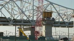 4K Louisville Downtown Bridge Construction 1 Stock Footage