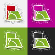 Drawing business formulas: angle - stock illustration