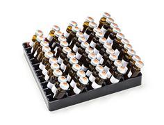 vials in rack - stock photo