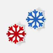 realistic design element: snowflake - stock illustration