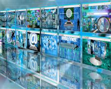 wall sites - stock illustration