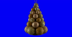 Christmas ball isolated loop 13 Stock Footage