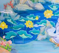 Stock Photo of chinese mural painting art
