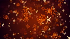 Red Christmas Snow Flakes Stock Footage