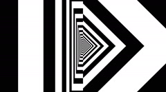 Concentric oncoming abstract symbol, rune Thurisaz - optical, visual illusion Stock Footage