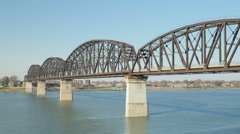 Louisville Big Four Bridge 3 Stock Footage