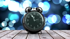 Alarm clock counting down to midnight for new year - stock footage