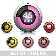 Set of timers Stock Illustration