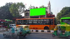 Billboard chromakey. India. timelapse - stock footage