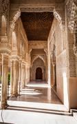 Arabian door in alhambra Stock Photos