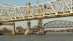Louisville Downtown Bridge Construction and Existing Bridges 5 Stock Footage