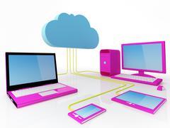 cloud computing concept - stock illustration