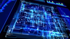 4K Futuristic technological abstract motion background, seamless loopable. Stock Footage