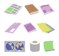 Paper goods - stock illustration