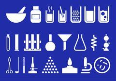 Laboratory equipment - stock illustration