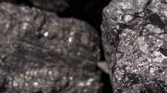 Carbon Graphite Ore Pan Stock Footage
