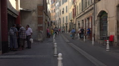 Toulon France narrow alley neighborhood 4K 067 Stock Footage