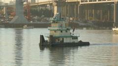 Walsh Construction Towboat Katherine O'Hara 2 Stock Footage