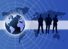 global business communication - stock illustration
