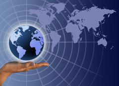 Stock Illustration of global business communication