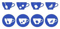 Tea-house - stock illustration