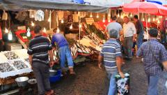 Fish stalls selling fresh catch seafood at Karakoy Stock Footage