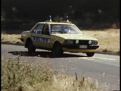 Aussie Police Car Stock Footage
