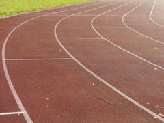Racecourse sports field Stock Photos