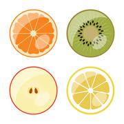 Fruit - vector web icons (buttons) Stock Illustration