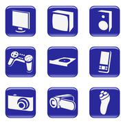 Electronics - vector web icons Stock Illustration