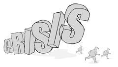 finanical crisis - stock illustration