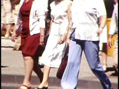 Various Bodys/Figures Walking in Public Street (Archive Footage) 1980s - stock footage
